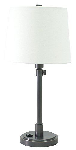 House of Troy TH751-OB Townhouse Adjustable Table Lamp with Convenience Outlet, Oil Rubbed Bronze
