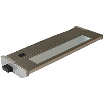 American Lighting 043T-10-BS Hardwired Fluorescent Under Cabinet Lighting, Brushed Steel, 10-Inch