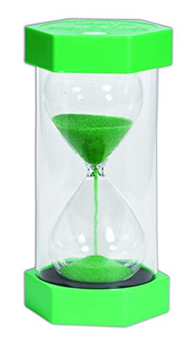 TickiT Mega Sand Timer - 1 Minute - Green - 0.5' Thick Glass
