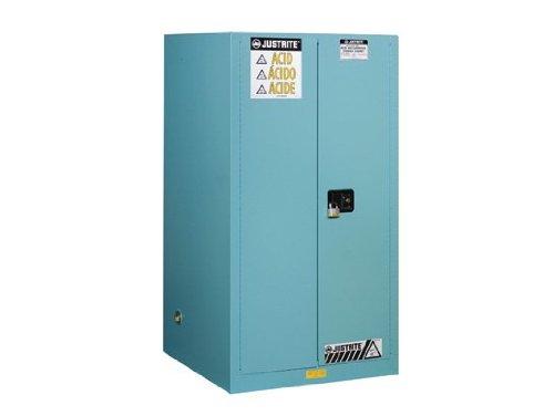Justrite 8960022 ChemCor Steel 2 Door Manual Lined Acid Safety Storage Cabinet, 60 Gallon Capacity, 34