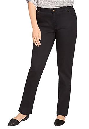 Women's Plus Size Straight Leg Stretch Jean at Amazon Women's ...