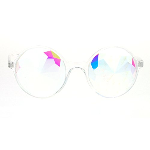 SA106 Rock Candy Kaleidoscope Ecstacy Rave Novelty Glasses - Sunglasses Dope