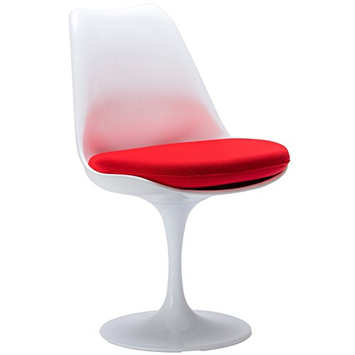 Plata Saarinen Style Tulip Side Chair Red