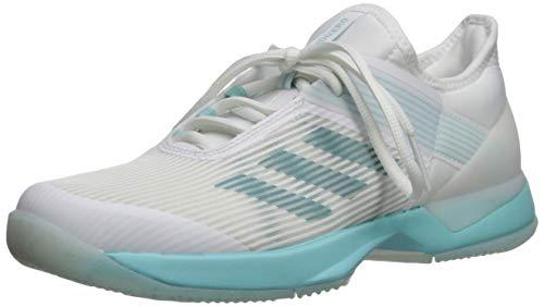 adidas Women's Adizero Ubersonic 3, Blue Spirit White, 8.5 M US