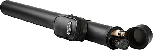 Tube Hard Case Cue Pool (Casemaster Q-Vault Supreme Billiard/Pool Cue Hard Case, Holds 1 Complete 2-Piece Cue (1 Butt/1 Shaft), Black)