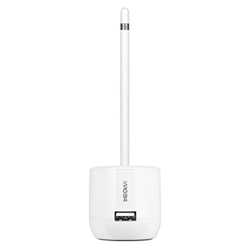 BlueFire Charger Dock for Apple Pencil with Nib Cover USB Charger Ports for iPad Pro by BlueFire