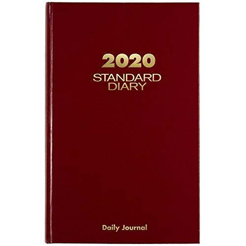 """AT-A-GLANCE 2020 Daily Diary/Address Book, 7-3/4"""" x 12"""", Large, Red (SD37713)"""