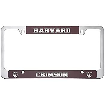 Amazon.com: Harvard University -Metal License Plate Frame-Burgundy ...