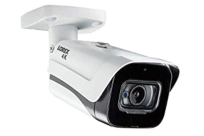 Lorex LBV8721AB 8MP 4K MPX Bullet Camera with Audio and 150ft Night Vision by Lorex