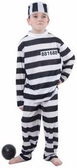 LUCIDA - Disfraz de preso para niña, talla 11-14 años: Amazon.es ...