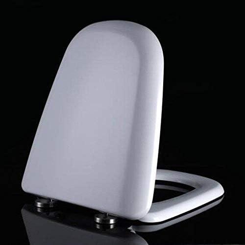 IAIZI 抗菌尿素 - ホルムアルデヒド樹脂1秒解体トイレカバー付き便座T-スタイルのトイレのふた (Color : White)