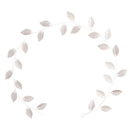 Ella Celebration Vine Leaf Bridal Headband Wedding Hair Accessories for Brides Bridesmaids and Flowergirls (Silver) -