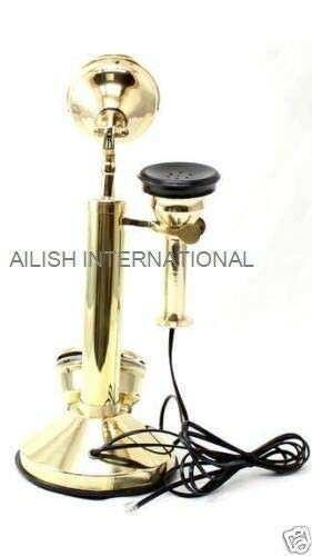 AILISH INTERNATIONAL New Brass Chrome King Look Candlestick Telephone Rotary DIAL by AILISH INTERNATIONAL