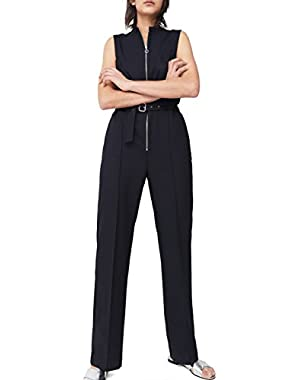 Mango Women's Zip Long Jumpsuit