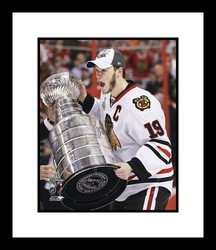 Jonathan Toews Chicago Blackhawks NHL Framed 8x10 Photograph with 2010 Stanley Cup Trophy Chicago Blackhawks Jonathan Toews Framed