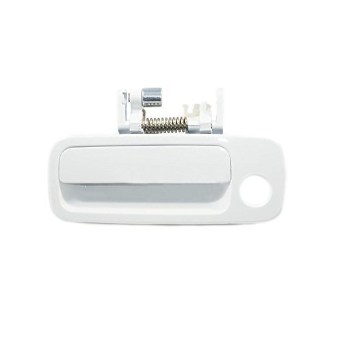 Sentinel Parts Front Left Driver Side Outside Door Handle 040 White for 1997-2001 Toyota ()