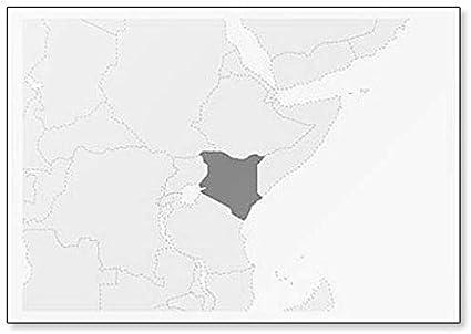 Cartina Dell Africa In Bianco E Nero.Mappa Dell Africa Con Mappa Del Kenya Evidenziata Classica Magnete Da Frigorifero Amazon It Casa E Cucina