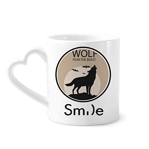 Wolf Ghost Fear Halloween Pumpkin Smile pattern Mug Cup Pottery Heart Handle]()