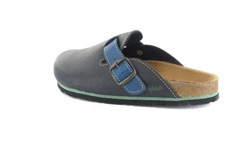 BIOPED - Unisex Clogs - Blau Schuhe in Übergrößen