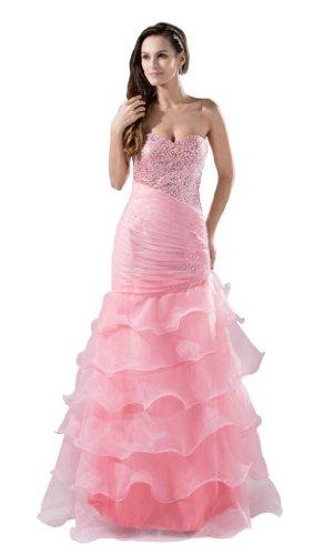 Orifashion para vestido de noche mujer Mermaid Color Rosa Rosa