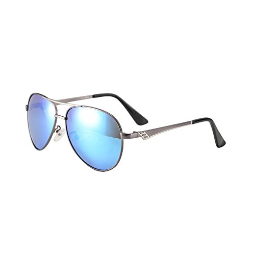Couleur Sunglasses blue Driving HONEY ice Gun Pour Retro gray Lunettes Hommes Polarized Personality Black ABxqxwET8