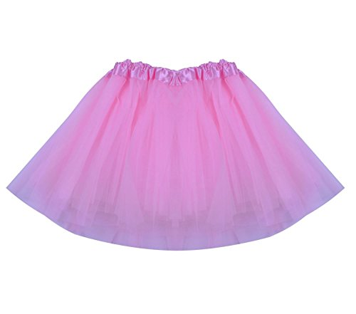 SUNNYTREE Pink Tutu for Girls Dance Costume Party Dress Toddler Skirt Pink