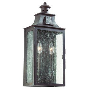 Troy Lighting Outdoor Lamp (Troy Lighting BCD9008OBZ, Newton Outdoor Wall Sconce Lighting, 120 Total Watts, Old Bronze)