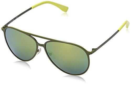 Lacoste Unisex L179S Aviator Sunglasses, Satin Green, 59 - Sunglasses Lacoste Green