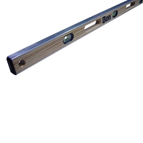 Bon 21-397 48-Inch Laminated American Hardwood Aluminum I-Beam Level with Hand ()