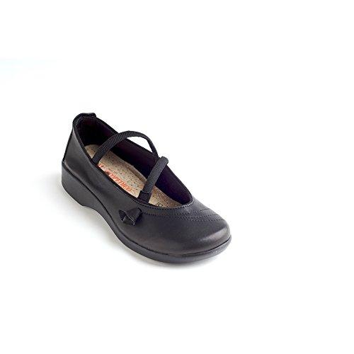 (Arcopedico 6201 Vitoria Womens Mary Jane Flats, Black/Black Suede, Size - 37)