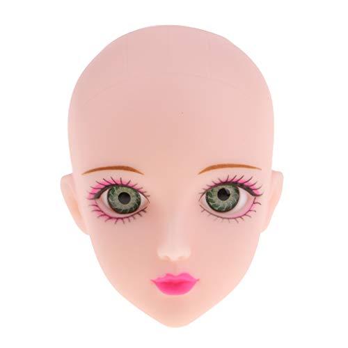 Prettyia OOAK Girl Jointed Head Carving Sculpt Green Eyes 1/6 BJD Doll, MSD Accessory