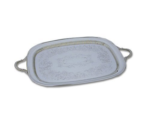 - Reed & Barton Sheffield Collection 14-by-22-Inch Silver-plated Queen Anne Oblong Tray
