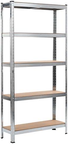 N/O Viel Spaß beim Einkaufen mit Lagerregal Silbern 90 x 30 x 180 cm Stahl und MDF