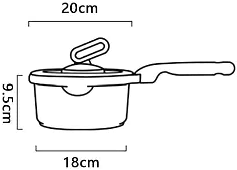 WZLJW Einfach und Durable HzPDG Moderne Milchkanne - Non-Stick Hot Soup Pot mit Even Heat und Leichtgewichtler, Multi-Purpose und leicht zu reinigen ggsm