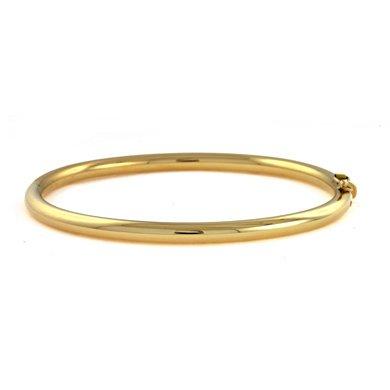 "Or jaune 18 carats - 4 mm-jonc-JewelryWeb 7 """