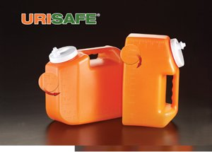 Simport Urisafe B350-4L HDPE 24 Hr Urine Collection Container with Polypropylene Cap, 4L Volume (Case of 30)
