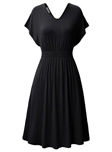 Jersey Double V-neck Dress - 3