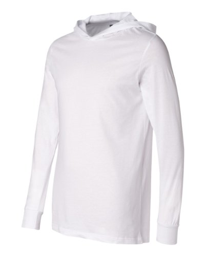 Unisex Driftwood Long Sleeve Hooded T-Shirt, Color: White, Size: (Medium Driftwood Color)