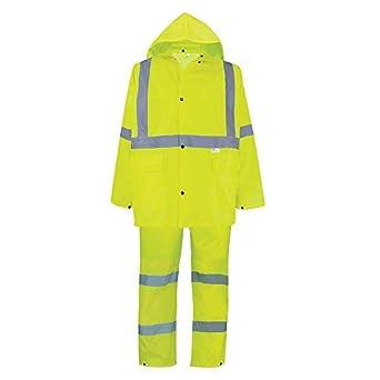 GLO-8000 - FrogWear HV - 3-Piece High-Visibility Rain Suit ...