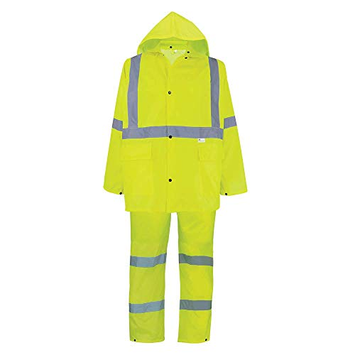 GLO-8000 - FrogWear HV - 3-Piece High-Visibility Rain Suit - X-Large