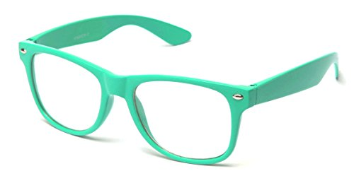 Clear Lens Fashion Fun Nerd Cosplay Geek Colors Rainbow Multi Color BUY 3 GET 50% - Sunglasses Buy Off Get One 50% One