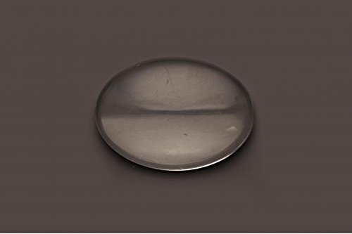 12 Clear Oval Glass Cabochons For Photo Pendant Bezels 22mm