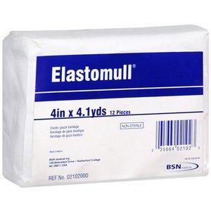 """Elastomull, Non-Sterile Elastic Gauze Bandage, 4"""" x4.1yds., 12 rolls/inner pack, 8 bags/case"""