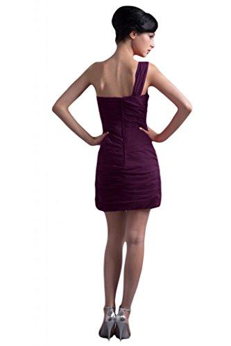 a abito damigella Grape Sunvary fodera elegante raso Abito in tema feste asimmetrico per per d'onore R47pIq4