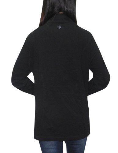 Funda rígida Brand Yoga para mujer Athletic con cremallera-up chaqueta de hípica para niños negro