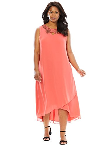 Women's Plus Size Embellished Maxi Dress