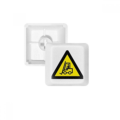 Símbolo de advertencia amarillo y negro carretillas elevadoras triángulo teclas PBT para teclado mecánico Blanco OEM sin...