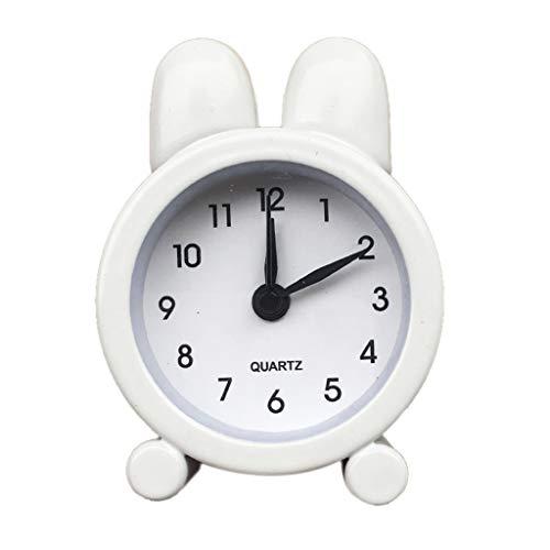 (Smdoxi Charging led Digital Clock Creative Cute Mini Metal Small Alarm Clock Home Office Decoration)