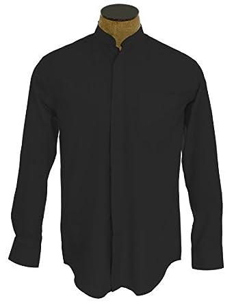 Men 39 s collarless banded collar dress shirt at amazon men s for Men s collarless banded collar dress shirt