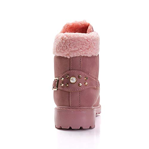 Caviglia Boots Donna Da Stringate Rosa Snow Inverno Neve Pelliccia Stivaletti Sports Stivali Scarpe Caldo 6qnU70FF